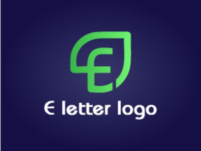 Design de logotipo eco letra E vetor