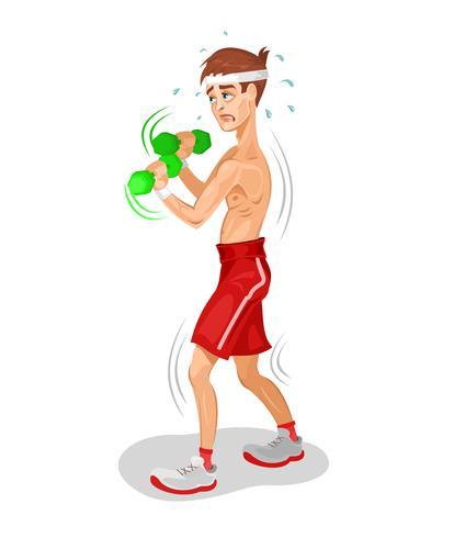 Vektorabbildung eines Athleten