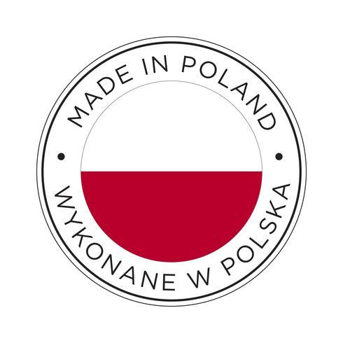 Hecho en el icono de la bandera de Polonia.