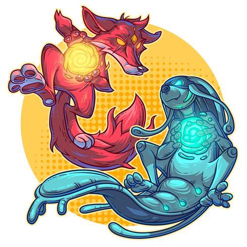 Vektor illustration tecknade monster