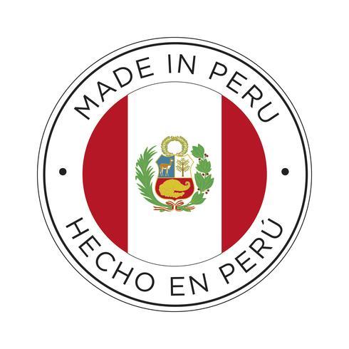 Hecho en el icono de la bandera de Perú.