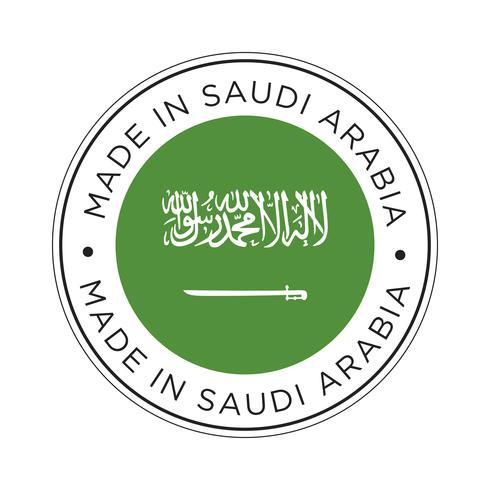 Fabriqué en Arabie Saoudite icône de drapeau.