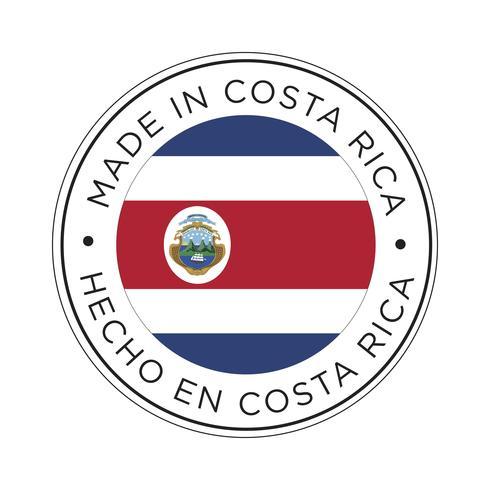 Feita no ícone da bandeira da Costa Rica.