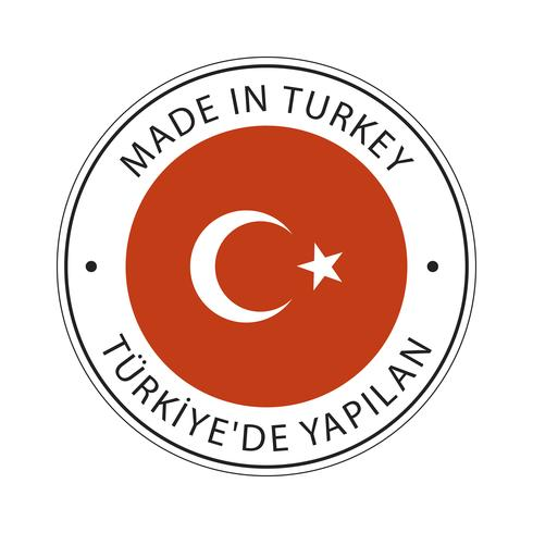 realizzato in icona bandiera Turchia.
