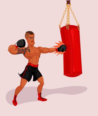 Illustration vectorielle d'un boxeur