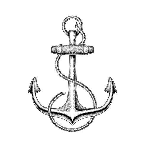 Vektor illustration av ett nautiskt ankare