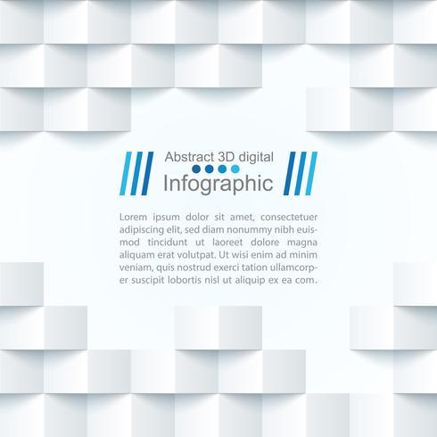 Modelo de papel abstrato - estilo origami vetor
