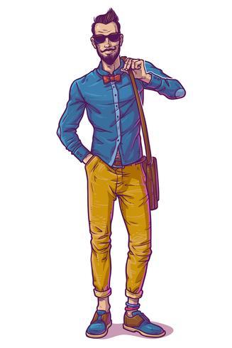 Illustration vectorielle d'un gars à la mode