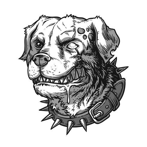 Vektorillustration des schlechten wütenden Hundes