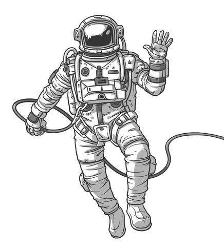 Cosmonauta di illustrazione vettoriale,