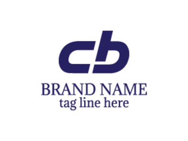 Logotipo da letra CB vetor