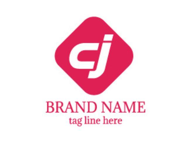 Logotipo do logotipo da letra CJ vetor