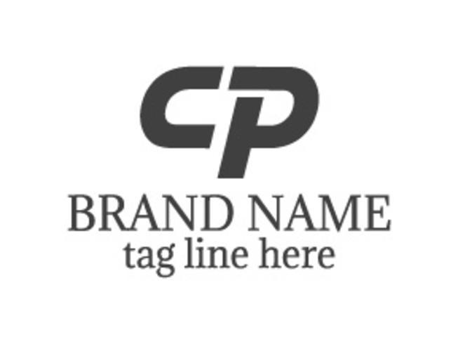 Design de logotipo carta CP vetor