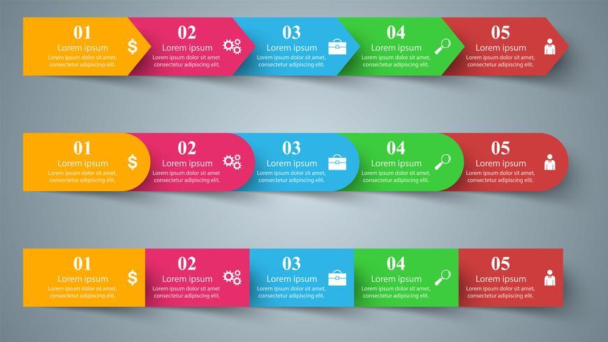 Style origami entreprise infographie illustration vectorielle.