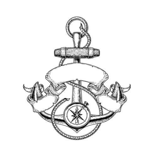 Vectorillustratie nautisch anker
