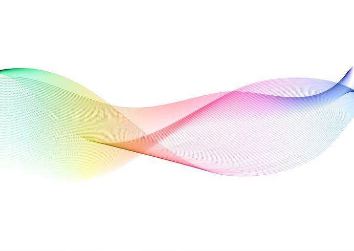 Fond de conception abstraite avec vagues arc-en-ciel