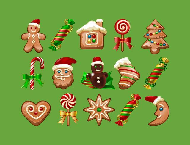 Vektor illustration av jul sötsaker.