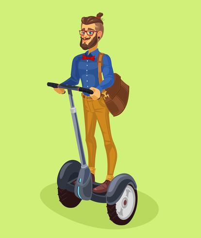 Vector illustration guy using