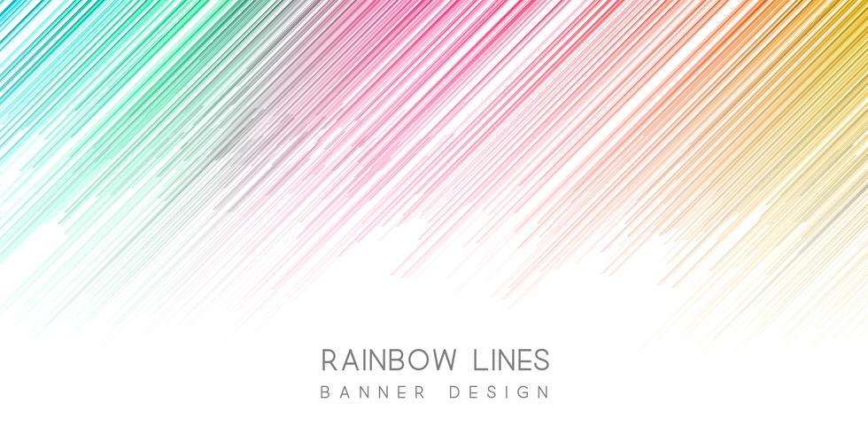 Design de banner colorido vetor