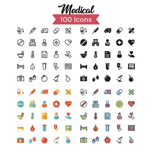 vettore stabilito dell'icona medica