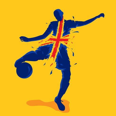fotboll fotboll splash nation flagga england vektor