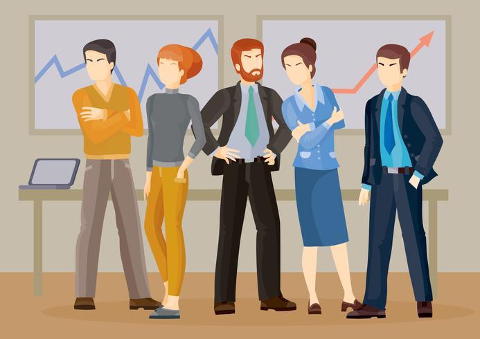 Illustrazioni vettoriali di uomini d'affari