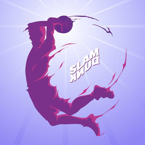 Slam dunk splash silueta