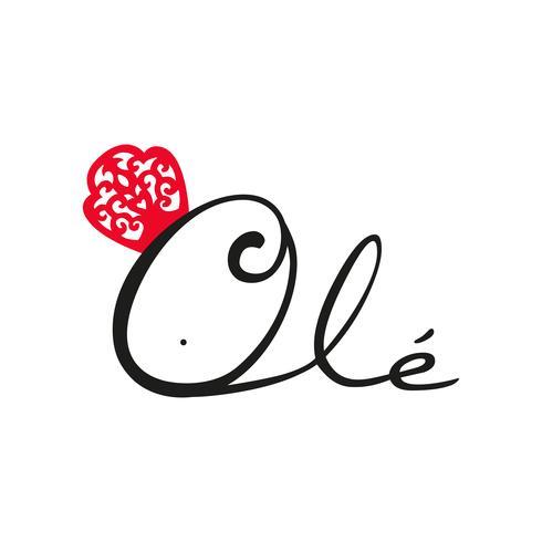 Flamenco logo Ole. Espanhol típico. vetor