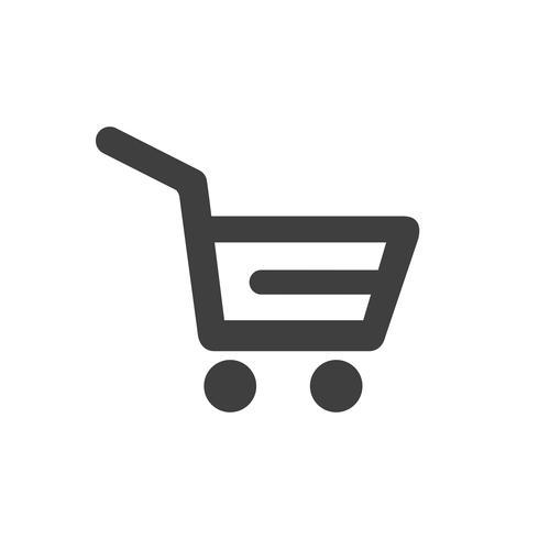 Ícone carrinho de compras vetor