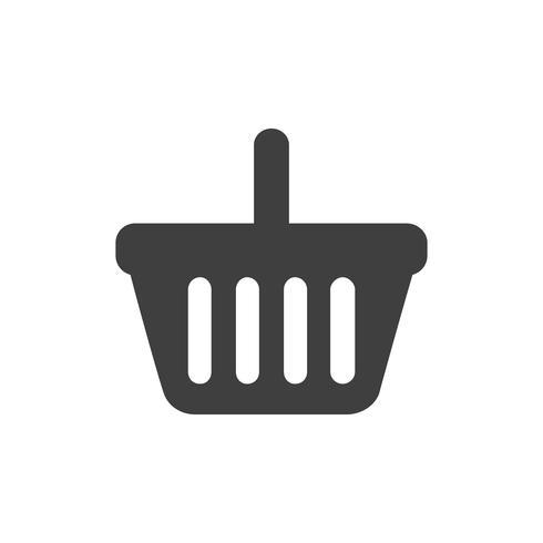 Vetor de ícone de cesta de compras