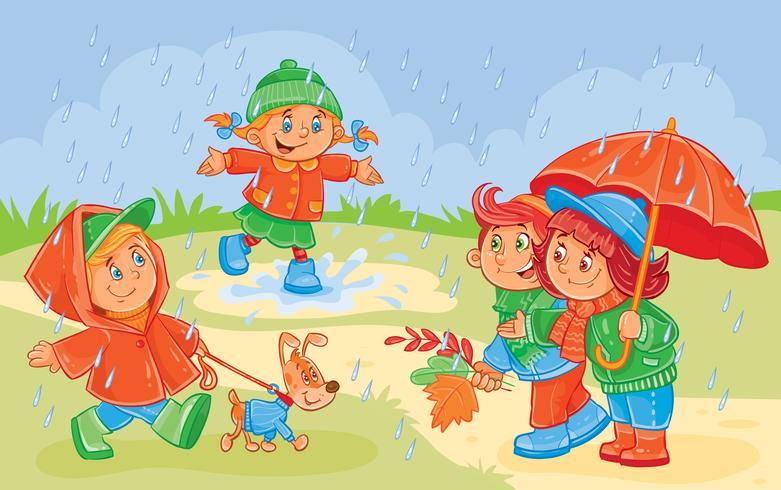 Vektorillustration des Kleinkindspielens