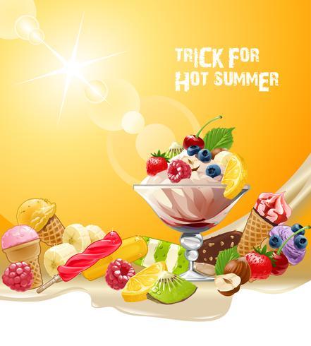 Köstliche Eiscreme des Vektorhintergrundes