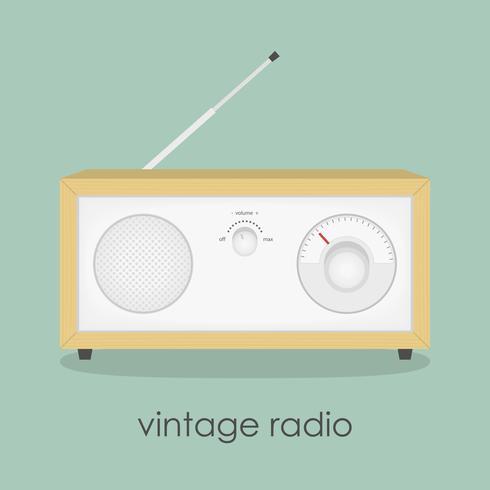 Rádio bonito dos desenhos animados doodle ilustração. vetor