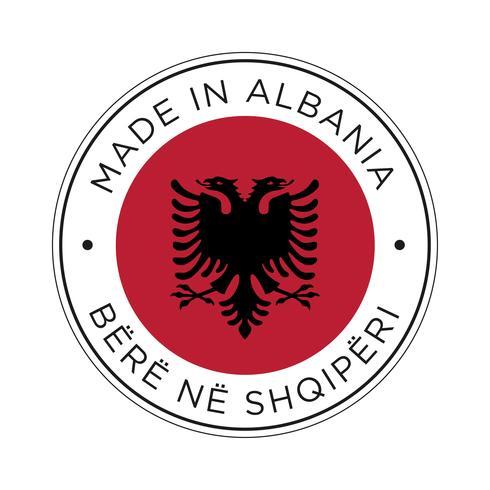 Gemaakt in Albanië vlagpictogram.