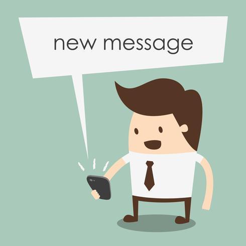 nova ilustração vetorial de mensagem vetor
