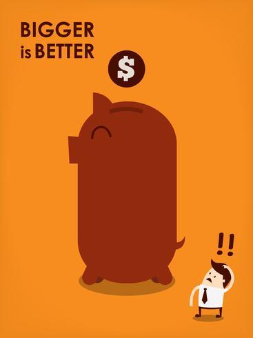 big piggy bank. vector