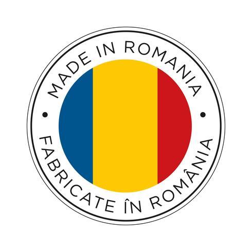 made in romania flag icon.