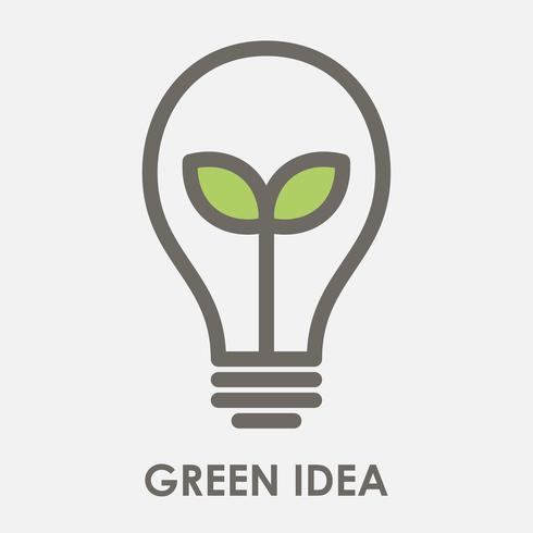 illustrazione vettoriale di idea verde