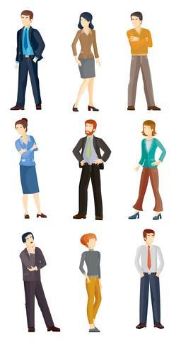 Raccolta di illustrazioni vettoriali di uomini d'affari