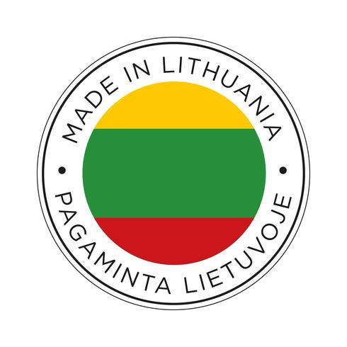 Gemaakt in Litouwen vlagpictogram.