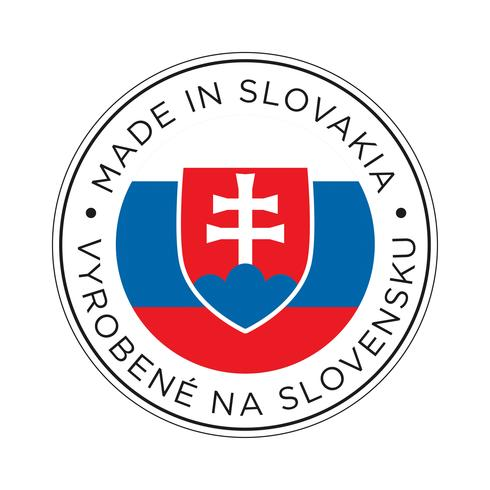 Feita no ícone de bandeira da Eslováquia. vetor