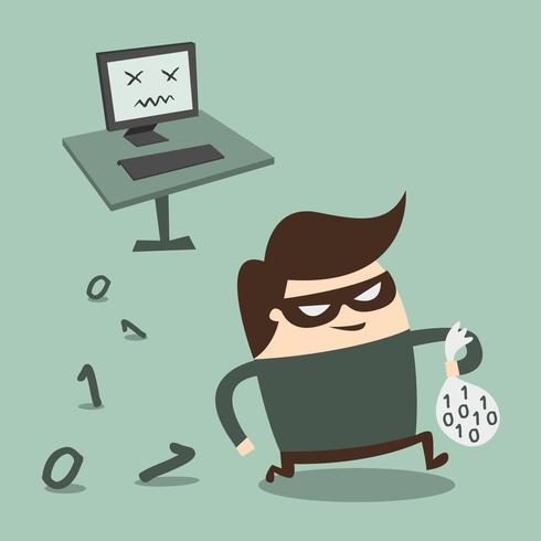Hacker-Vektor-Illustration