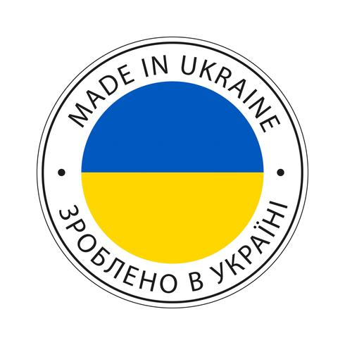 Feita no ícone de bandeira da Ucrânia.