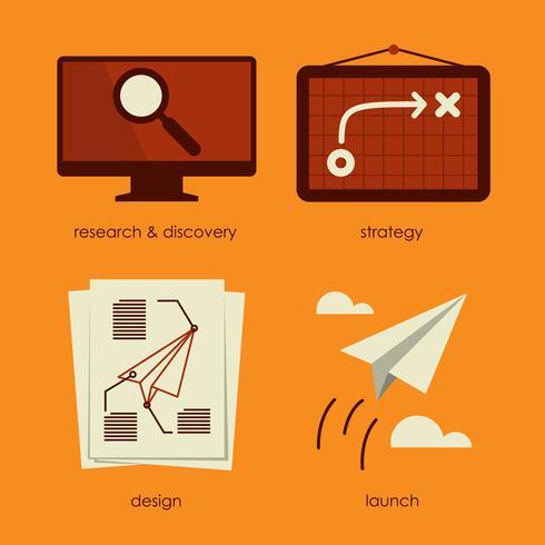 Process vector illustration