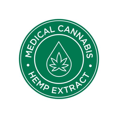 Icona di Estratto di canapa. Cannabis medica.