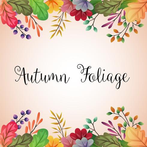 Outono colorido deixa a fronteira de fundo vetor