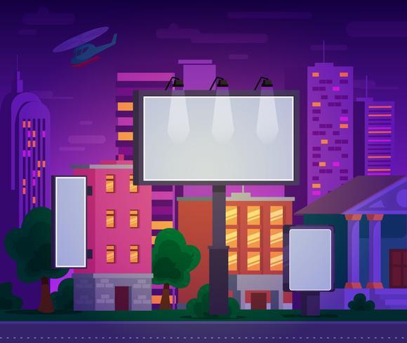 Illustration vectorielle d'un panneau d'affichage publicitaire