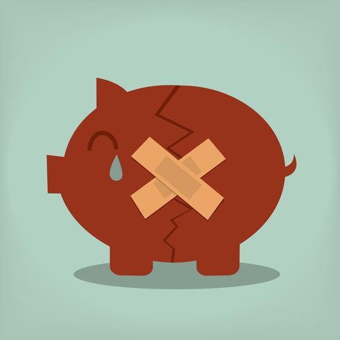 Spaarvarken. economische depressie