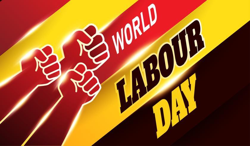 Fundo Mundial do Dia do Trabalho vetor