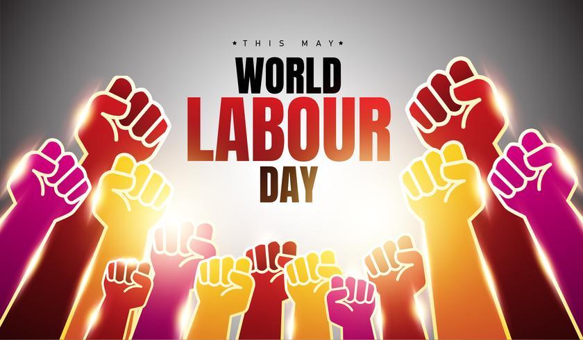 Antecedentes del Día Mundial del Trabajo vector